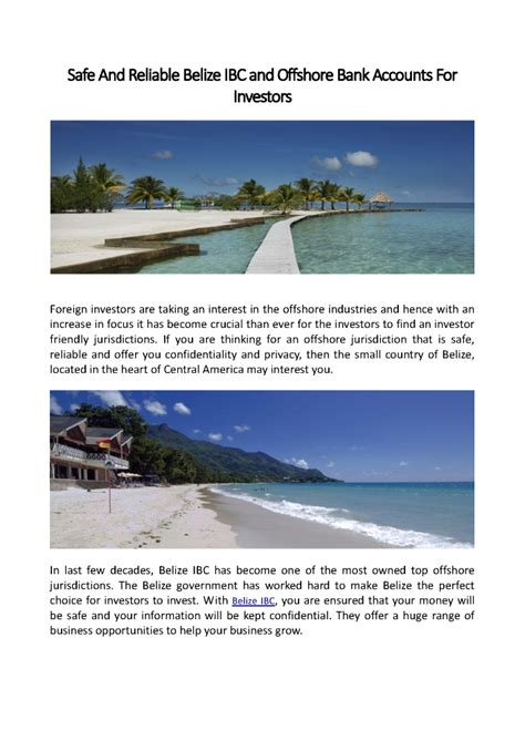 safest offshore banks safe and reliable belize ibc and offshore bank accounts