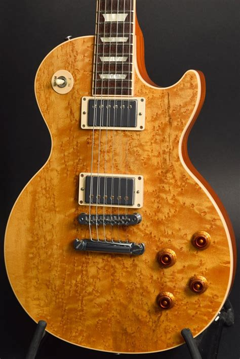 Gitar Guitar Elektrik Electric Gibson Les Paul Top Costum gibson usa les paul standard premium birdseye maple top electric guitar ebay