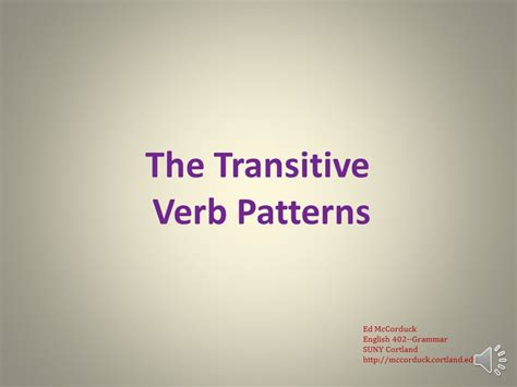 verb pattern permit english grammar lecture 11 the transitive verb patterns