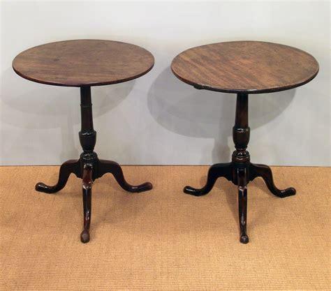Oak L Shaped Desk Pair Of Antique Tripod Tables Pair Of Round Antique