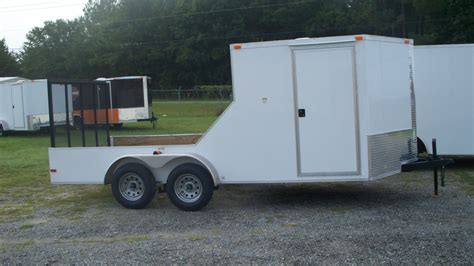 in trailer 7x18 enclosed open trailer one in stock trailer id 3010