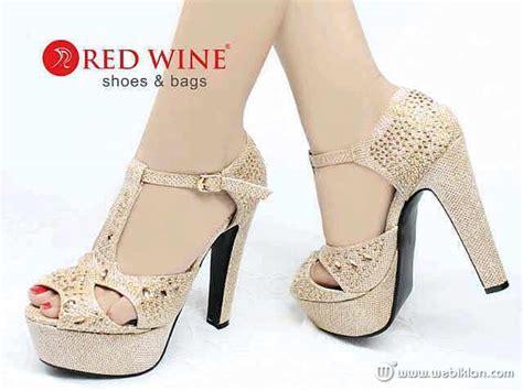 Sepatu Wanita Kode Bb sepatu sandal heel pesta permata redwine import kode xa179