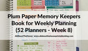 putting god 52 week planner books weekly planning using the plum paper memory keeper book