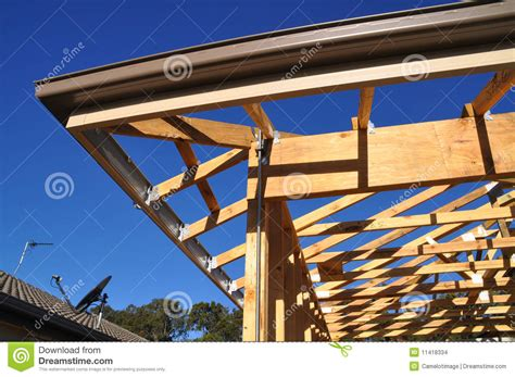 roofing a house building eave facia and gutter detail stock photo image