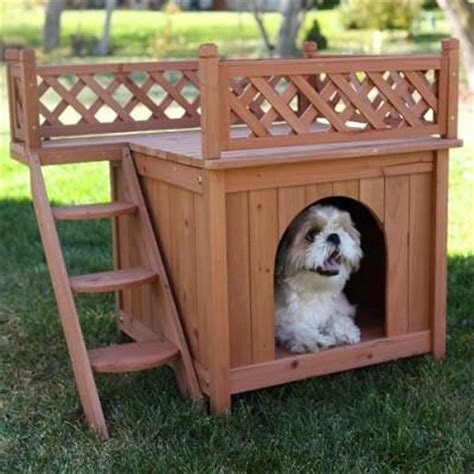 dog house with deck on top room with a view small dog house with roof top deck officialdoghouse