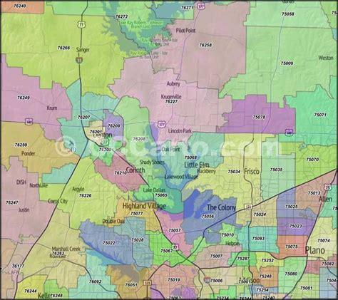 zip code map of texas denton texas zip codes