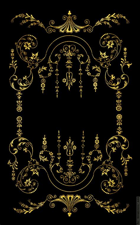 black and gold victorian wallpaper victorian border gold on black