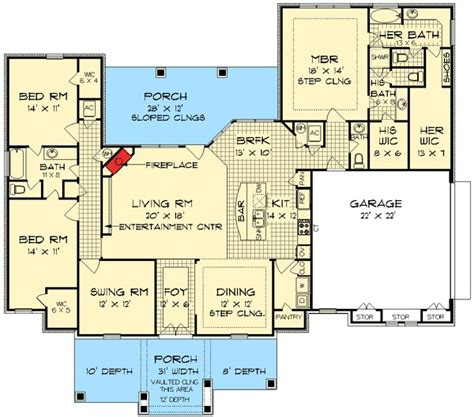 house plans with and bathrooms his and bath house plans