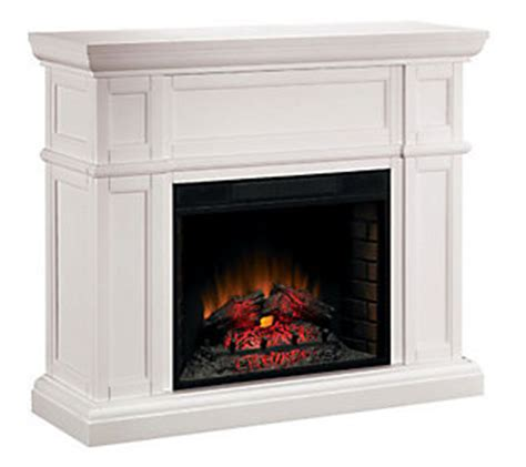 large white electric fireplace maine large wall electric white fireplace qvc