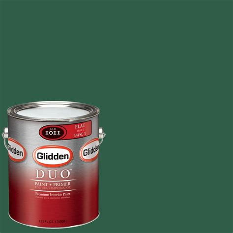 glidden duo 1 gal glg31 forest green eggshell interior paint with primer glg31 01e the home