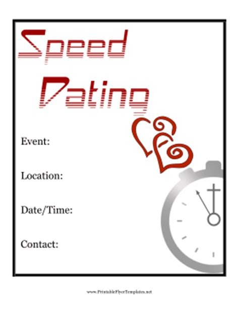 Speed Dating Flyer Speed Dating Website Template