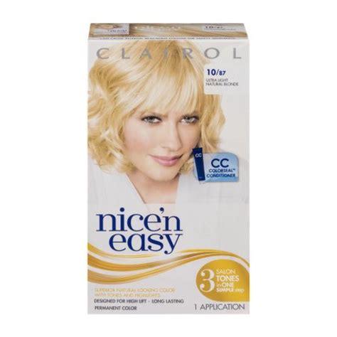 nice n easy permanent color ultra light natural blonde 87 clairol nice n easy permanent color 10 87 ultra light
