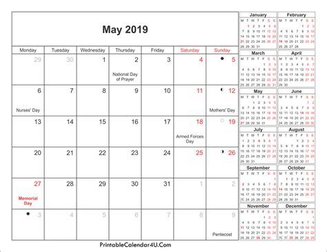 printable calendar for 2019 may 2019 calendar printable with holidays pdf and jpg