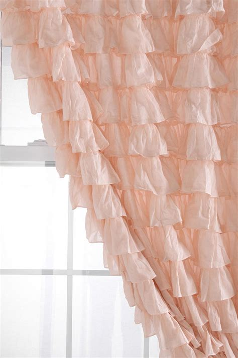 ruffle bedroom curtains shabby chic bedroom curtains waterfall ruffle curtain