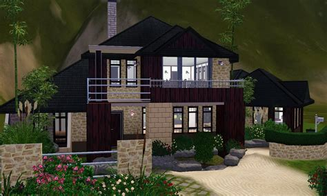 small house inspiration the sims 3 house designs asian inspired youtube