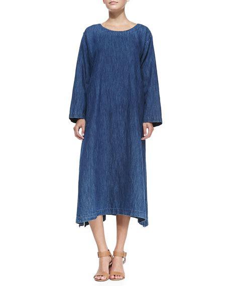 A Line Denim Dress eskandar a line denim shift dress