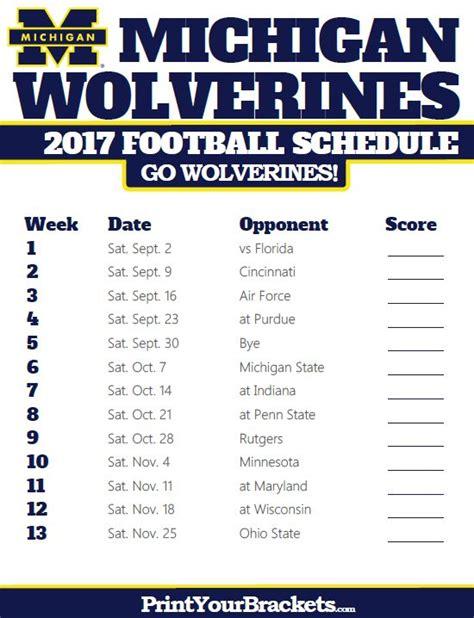 Calendar 2018 Umich 17 Best Ideas About Michigan Wolverines Schedule On