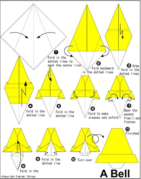Origami Bell - bell easy origami for