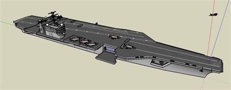 military boat aircraft carrier  skp model  sketchup