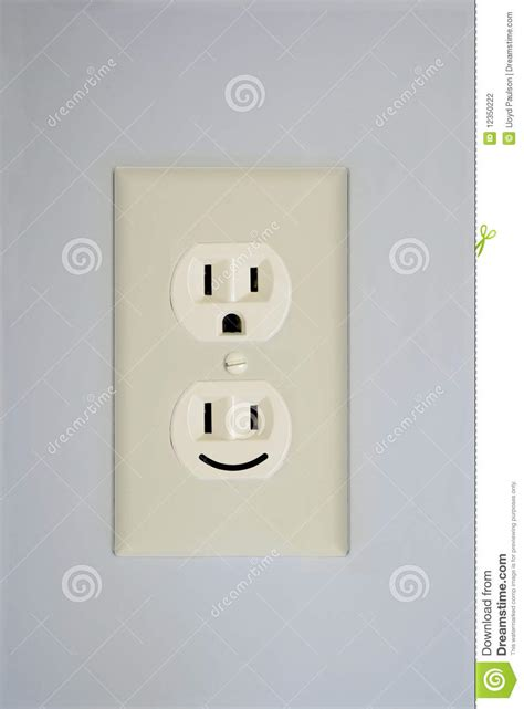 how to date a l by the plug electrical outlet smiley face stock photo image of face
