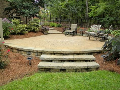 How To Lay A Raised Patio by Hardscapes Portfolio Keeler Landscape