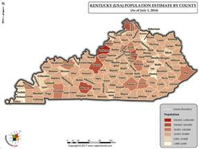 kentucky demographic map what is the population of kentucky answers