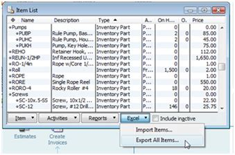 Importing Inventory With Excel Excel Template For Quickbooks Import