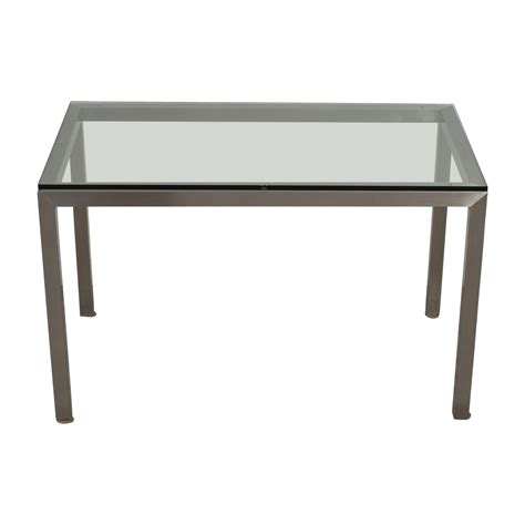 crate and barrel dining bench 42 off crate barrel crate barrel glass and
