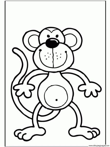 imagenes de monos faciles para dibujar dibujo de mono 007 dibujos y juegos para pintar y colorear