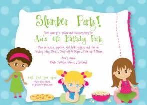 birthday sleepover invitations