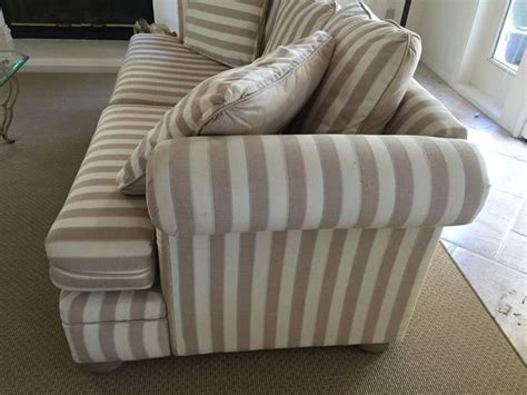 striped couch lot 42 of 235 upholstered striped sofa sleeper