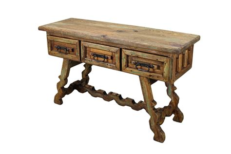 mesquite wood aztec side table mexican rustic furniture