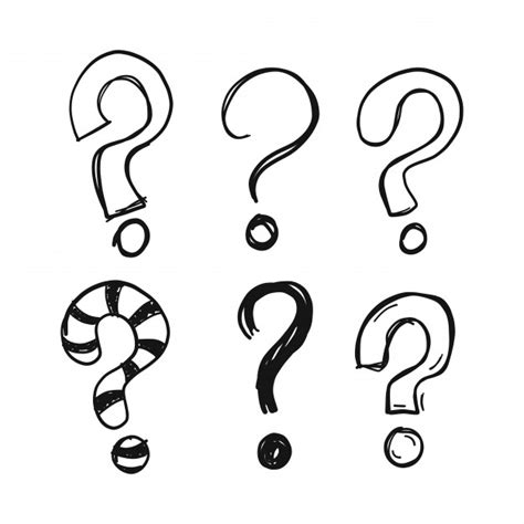 doodle question doodle question marks vector free