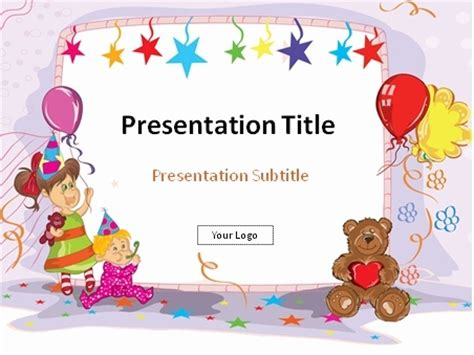 presentation templates for birthday download birthday party illustration powerpoint template