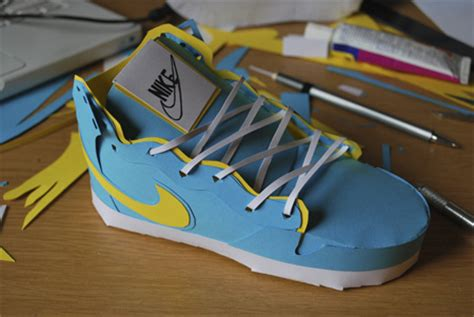 How To Make A Paper Shoe Step By Step - nike sneakers made from paper