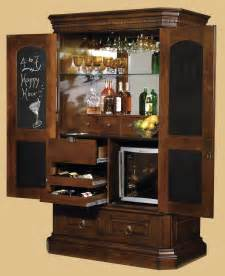 Glass Bar Cabinet Designs Bar Cabinet With Chalkboard Interior Door Plus Glass Shelves And Wine Cooler Decofurnish