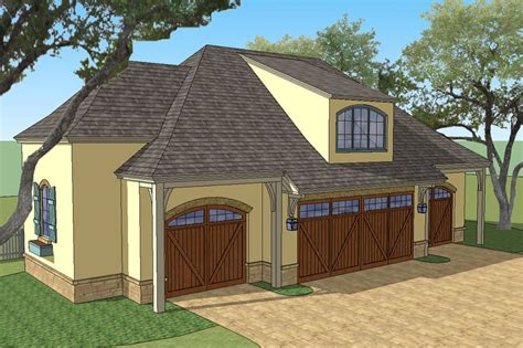 Country Garage Plans by New South Classics Carriage House 4 Car