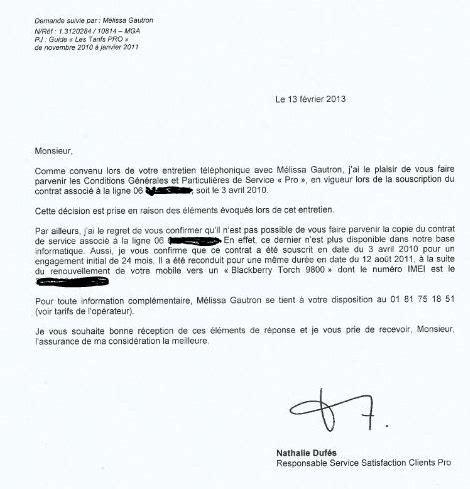 Free Lettre De R Siliation Box modele lettre resiliation abonnement telephonique sans