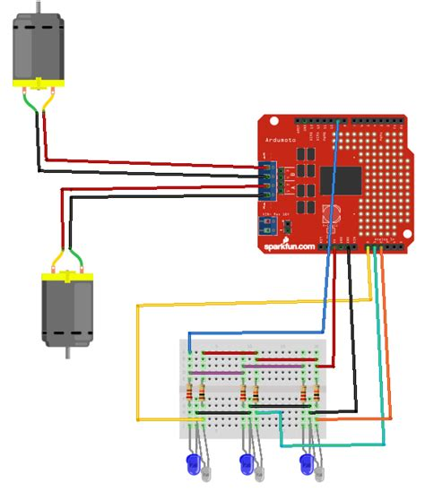 arduino ir diode circuit easy steps for a line following robot using infrared led photodiode ardumoto and