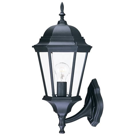 Outside Light Fixtures Lowes Shop Acclaim Lighting Richmond 21 5 In H Matte Black Outdoor Wall Light At Lowes