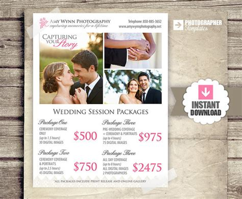 wedding photography pricing template wedding photography package pricing by studiotwentynine on