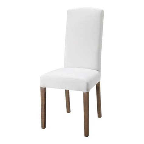 chaise de jardin blanche fabric and wood chair in white maisons du monde