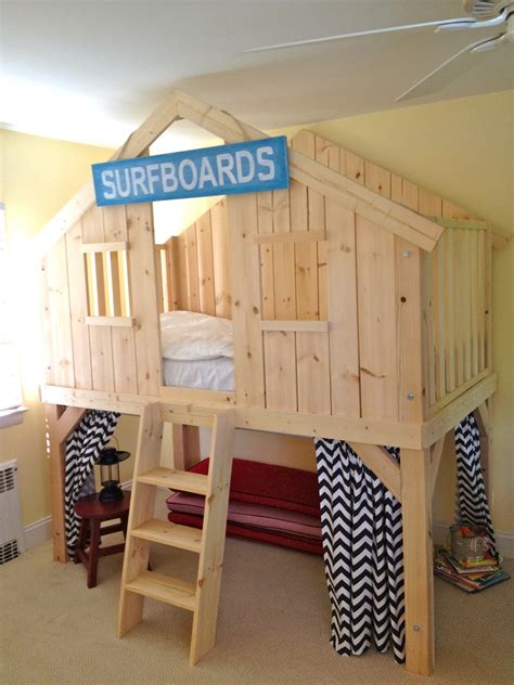 clubhouse bed that s my letter diy clubhouse bed for kids