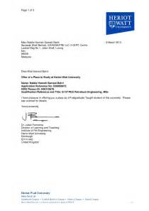 Appointment Letter Format In Dubai Offer Letter From Hwu