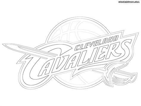 cavs coloring pages cleveland cavaliers pages coloring pages