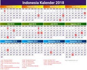 Kalender 2018 Indonesia Kalender Indonesia 2018 Kelender 2018
