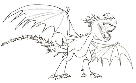 amazing   train  dragon deadly nadder coloring