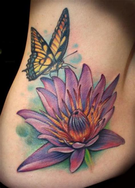 lotus tattoo with butterfly flower side butterfly lotus tattoo by powerline tattoo