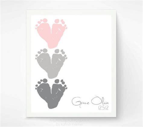 printable baby girl wall art pink gray nursery wall art baby footprint hearts