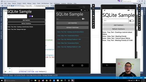 xamarin show layout using sqlite with xamarin forms mvp windows development